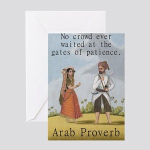 No Crowd Ever Waited - Arab Greeting Card