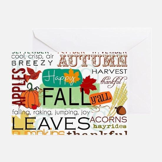 Autumn Subway Art Greeting Card