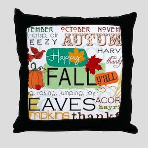 Autumn Subway Art Throw Pillow