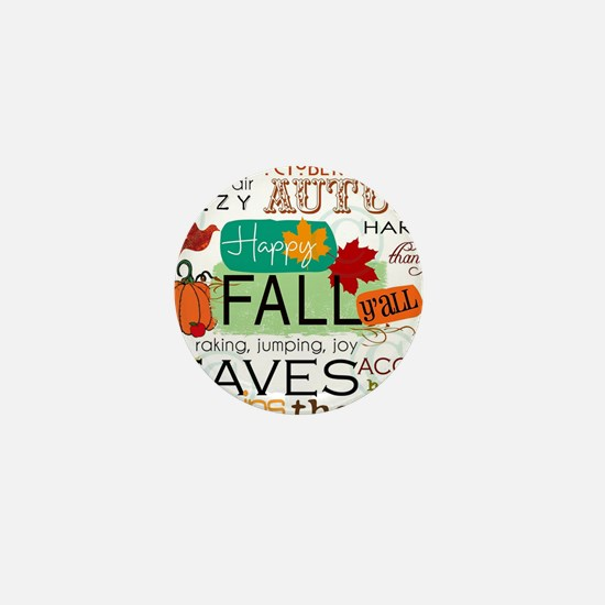 Autumn Subway Art Mini Button