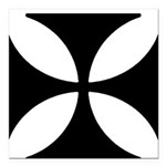 Iron Cross Square Car Magnet 3