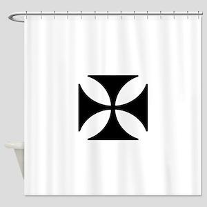Iron Cross Shower Curtain