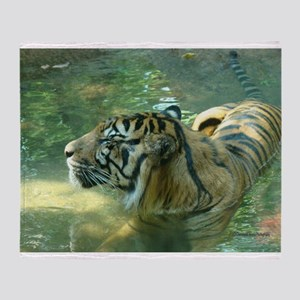 Resting Tiger Throw Blanket