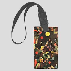 Paul Klee art, Full Moon Large Luggage Tag