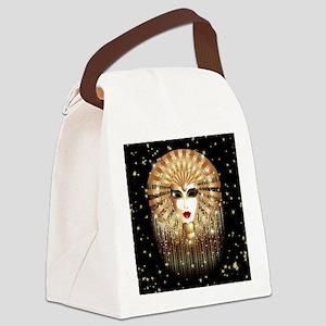 Golden Venice Carnival Mask Canvas Lunch Bag