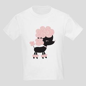 Pink Paris Poodle Kids Light T-Shirt