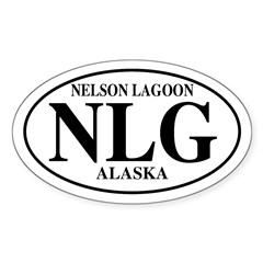 Nelson Lagoon Oval Decal