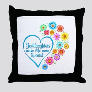 Goddaughter Special Heart Throw Pillow