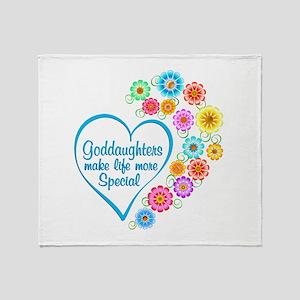 Goddaughter Special Heart Throw Blanket