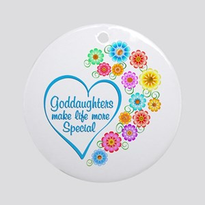 Goddaughter Special Heart Round Ornament