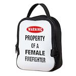 Female Firefighter Property Neoprene Lunch Bag