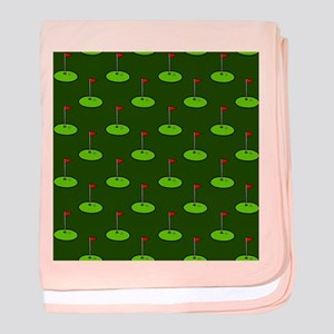 'Golf Course' baby blanket