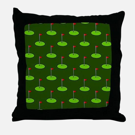'Golf Course' Throw Pillow