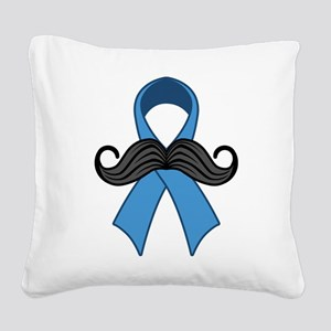 Prostate Awareness Ribbon Moustache Square Canvas