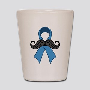 Prostate Awareness Ribbon Moustache Shot Glass