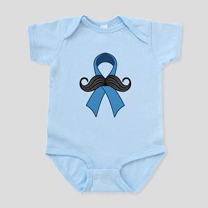 Prostate Awareness Ribbon Moustache Body Suit