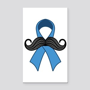 Prostate Awareness Ribbon Moustache Rectangle Car