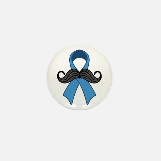 Prostate Awareness Ribbon Moustache Mini Button