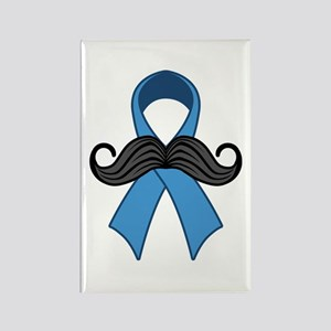 Prostate Awareness Ribbon Moustache Magnets