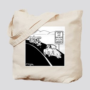 Speed Limit Enforced by Slow Aircraft Tote Bag