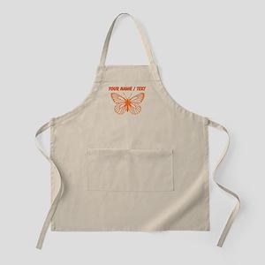 Custom Orange Butterfly Drawing Apron