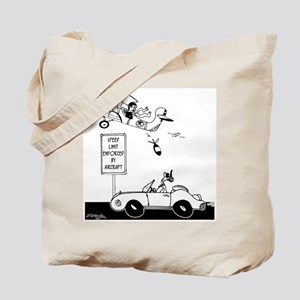 Speed Limit Enforced from Aircraft Tote Bag