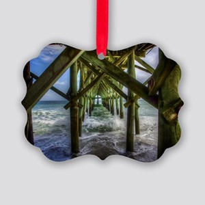The Pier at Myrtle Beach Picture Ornament