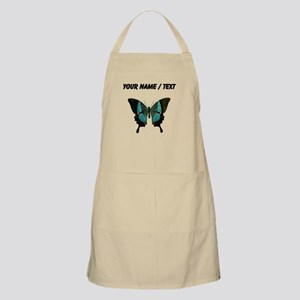Custom Blue And Black Butterfly Apron