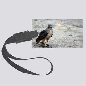 Red Tailed Hawk Catch Large Luggage Tag