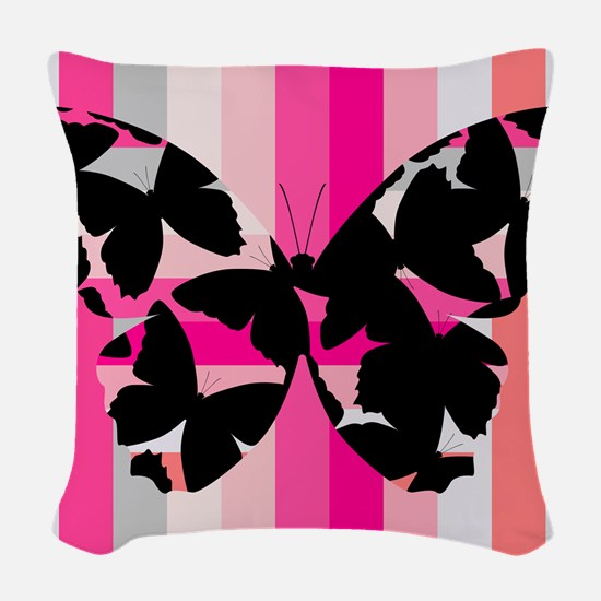The Invisible Butterfly, Woven Throw Pillow