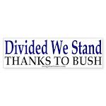 Divided We Stand (Bumper Sticker)