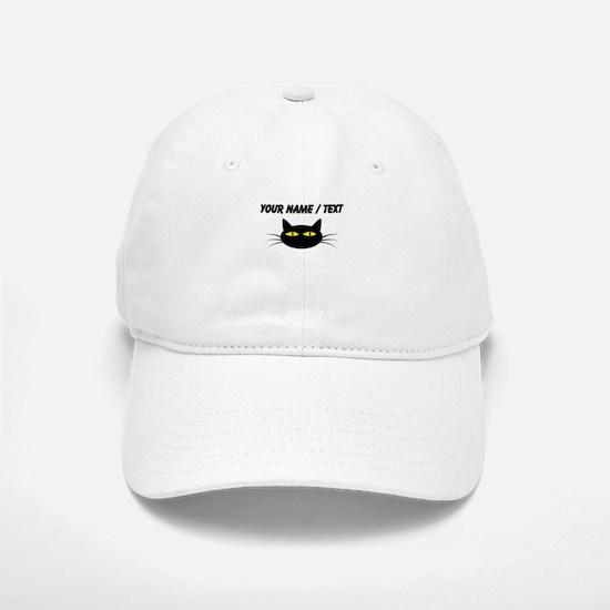 Custom Black Cat Face Baseball Baseball Cap