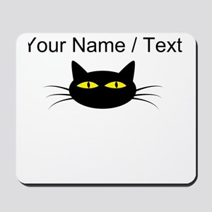 Custom Black Cat Face Mousepad