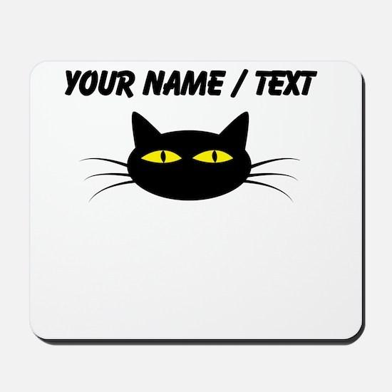 Custom Black Cat Face Mousepad