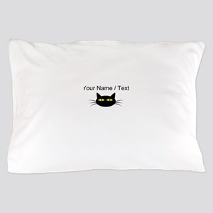 Custom Black Cat Face Pillow Case