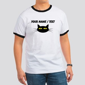 Custom Black Cat Face T-Shirt