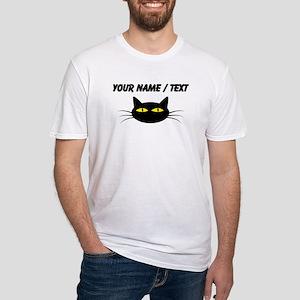 Custom Black Cat Face T-Shirt