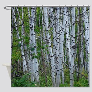 Thick Aspen grove Shower Curtain