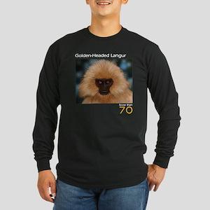 Golden Headed Langur Long Sleeve Dark T-Shirt