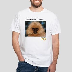Golden Headed Langur White T-Shirt