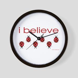 I believe in ladybugs Wall Clock