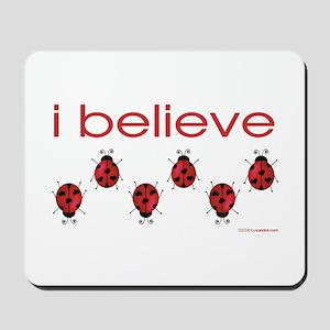 I believe in ladybugs Mousepad