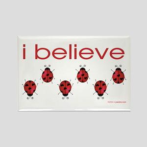 I believe in ladybugs Rectangle Magnet