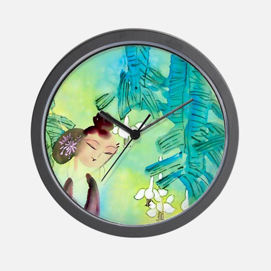 Cool Flores Wall Clock