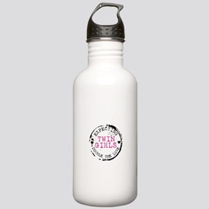 Expecting - Twin Girls Water Bottle