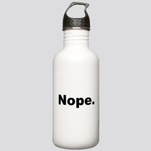 Nope (Black) Sports Water Bottle