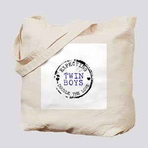 Expecting Baby - Twin Boys Tote Bag