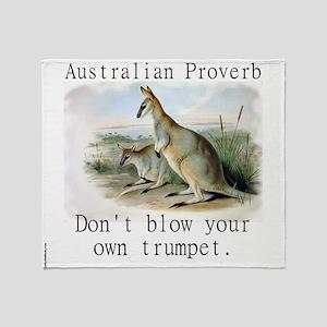 Dont Blow Your Own Trumpet - Australian Throw Blan
