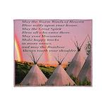 Cherokee Blessing Prayer Throw Blanket