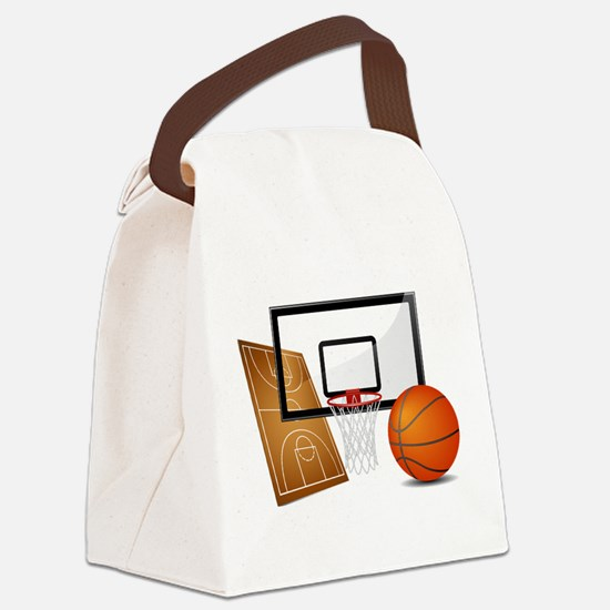 Basketball, Sports, Athlete Canvas Lunch Bag
